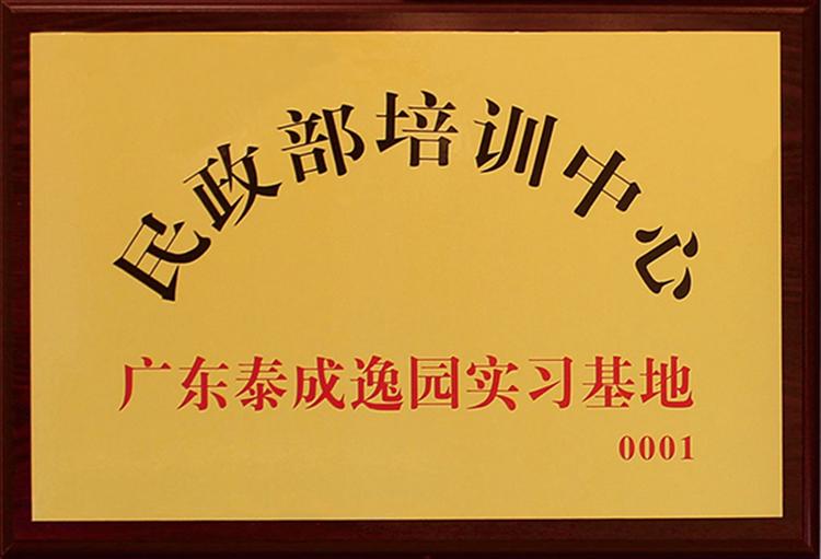 广东泰成逸园,民办非企业登记证书